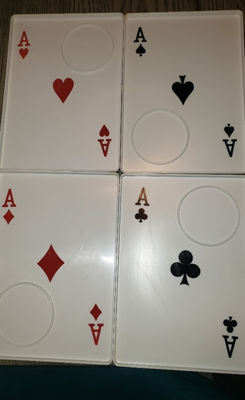 Vintage set of 4 Plastic playing card trays!!